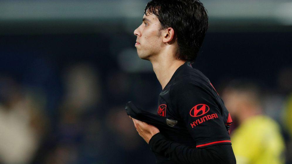 Foto: Joao Féliz se lamenta de una oportunidad perdida en el partido contra el Villarreal. (Reuters)