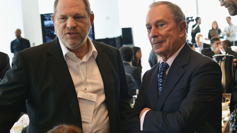 Weinstein y Bloomberg, en una imagen de 2014. (Getty)