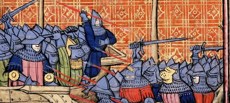 Foto: Miniatura que ilustra la batalla naval de La Rochele (1372) en la que Tovar venció a los ingleses.