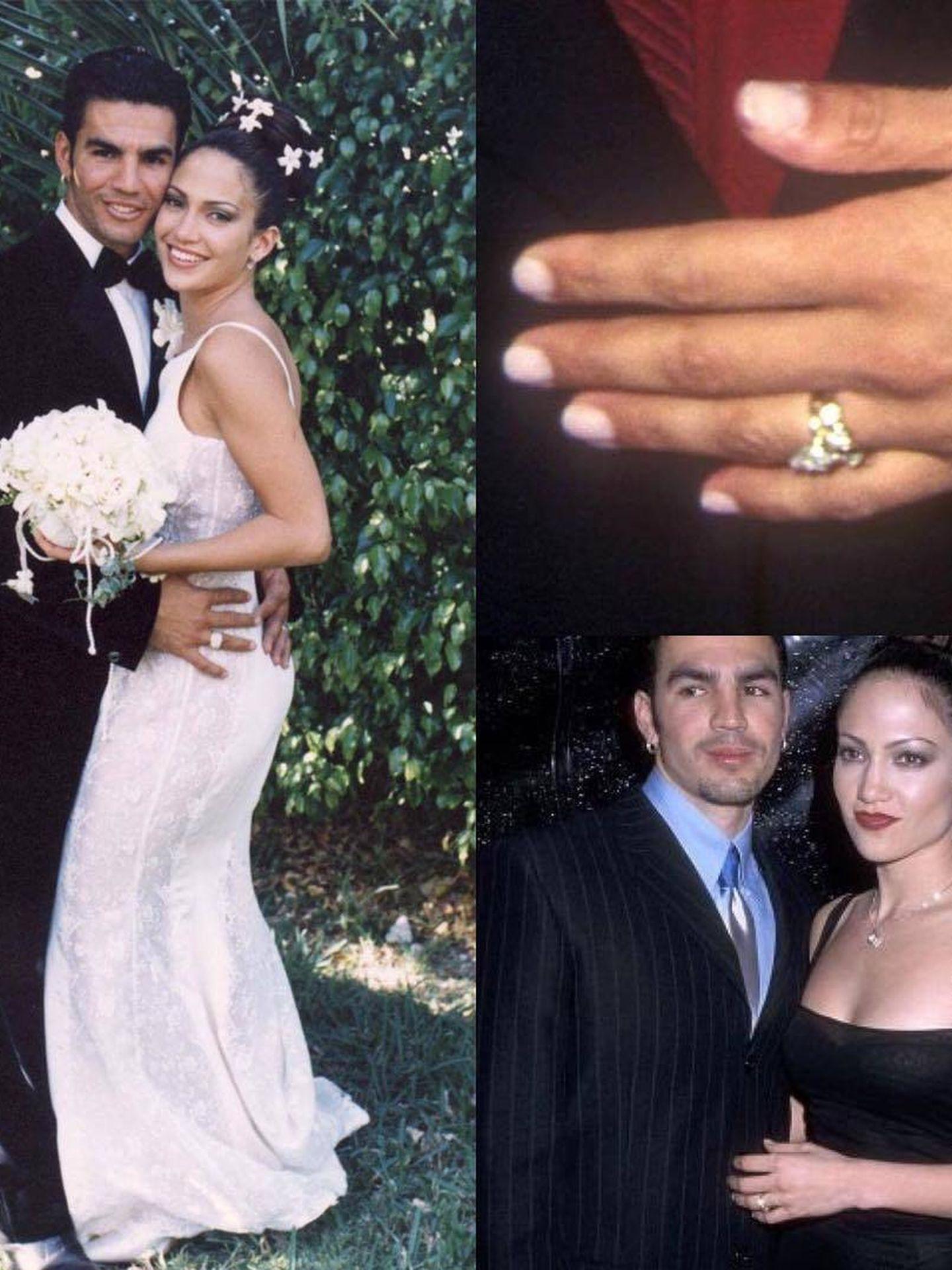 La primera boda de Jennifer Lopez con Ojani Noa. (Instagram)
