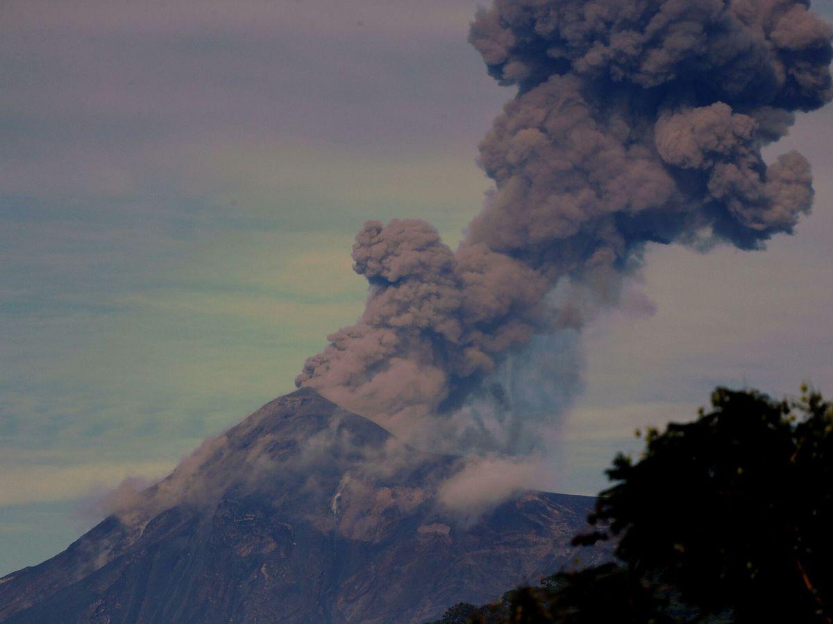 Foto: Erupción del volcán de Fuego en Guatemala (EFE)