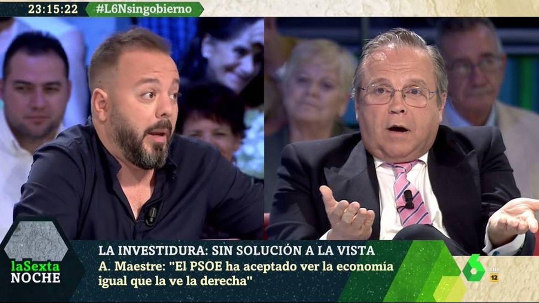 Maestre y Carmona, en 'La Sexta noche'. (Atresmedia).