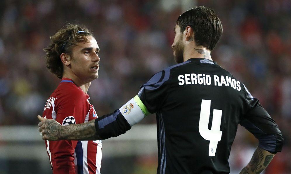 Foto: En la imagen, Griezmann y Sergio Ramos. (EFE)