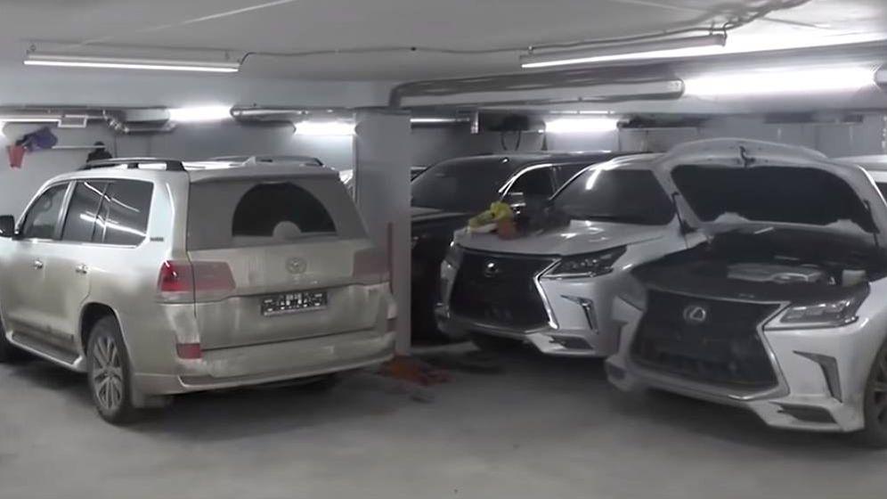Foto: Imagen de tres de los vehículos robados. (FOTO: Ministerio del Interior de Rusia)