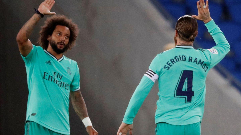 Marcelo y Sergio Ramos en un partido del Real Madrid. (EFE)
