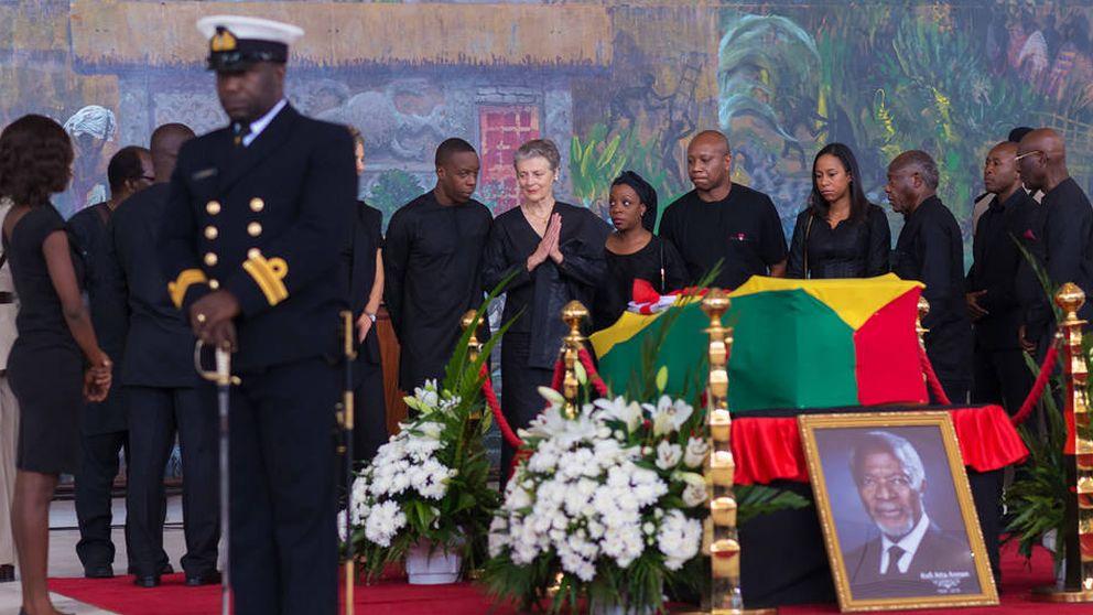 Las lágrimas de la princesa Mette Marit en el funeral de Kofi Annan