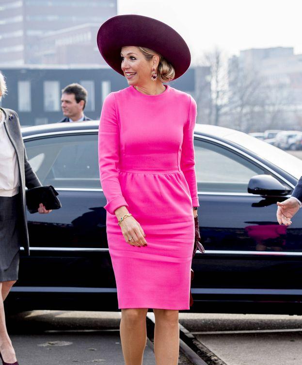 Foto: La reina Máxima de Holanda durante su acto de este martes. (Gtres)