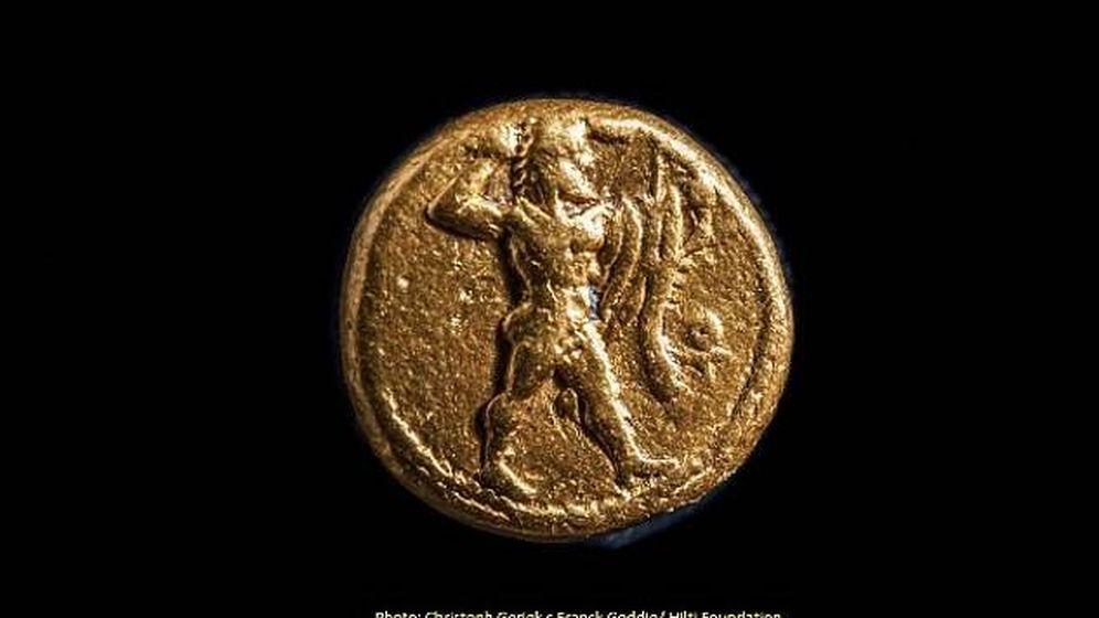 Foto: Una de las monedas encontradas. (Ministerio de Antigüedades de Egipto y The Hilti Foundation)