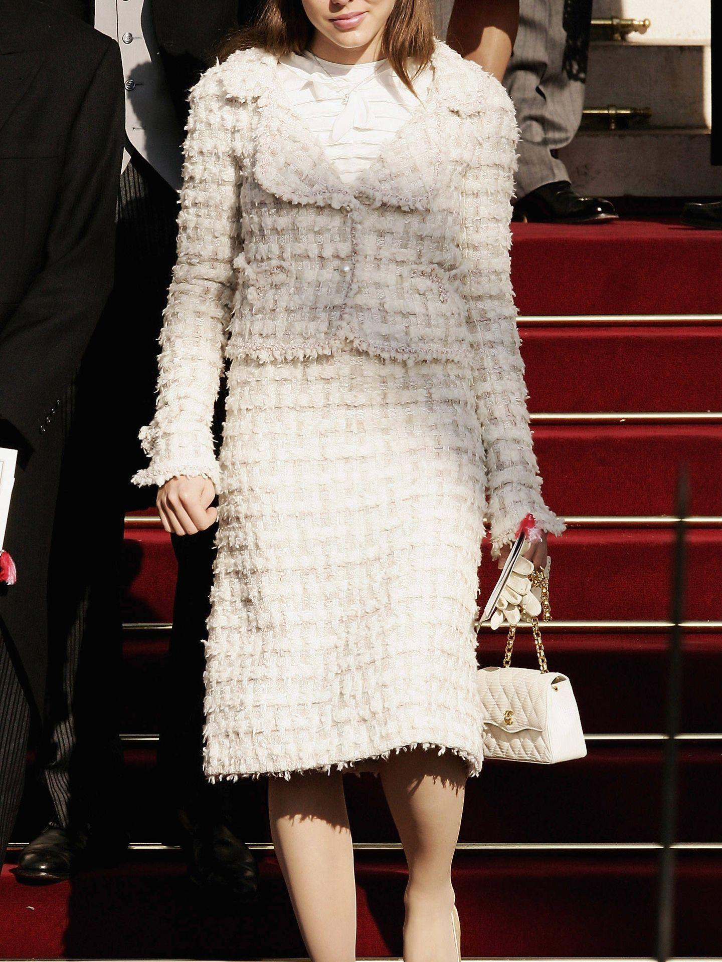 Carlota de Mónaco en la coronación del príncipe Alberto. (Getty)