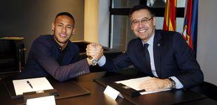 Post de El Barcelona denuncia a Neymar... y este vacila a Bartomeu con la 'MSN' y Piqué