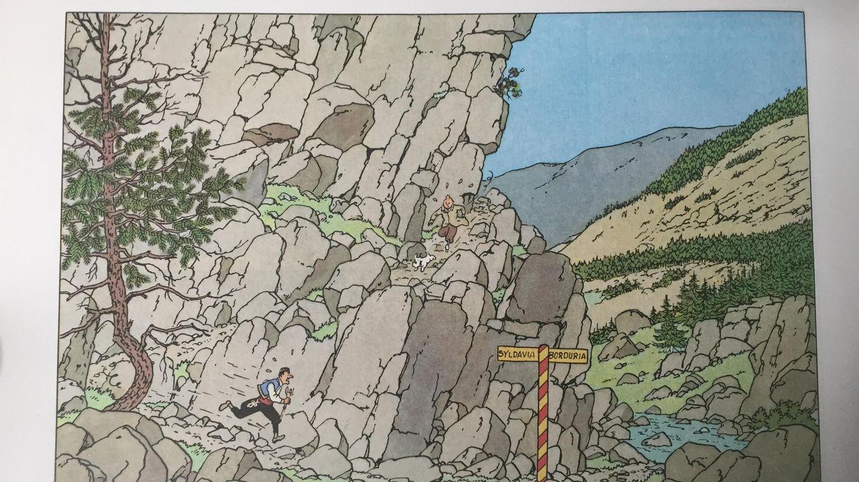 Foto: Viñeta de 'El cetro de Ottokar' (Hergé)