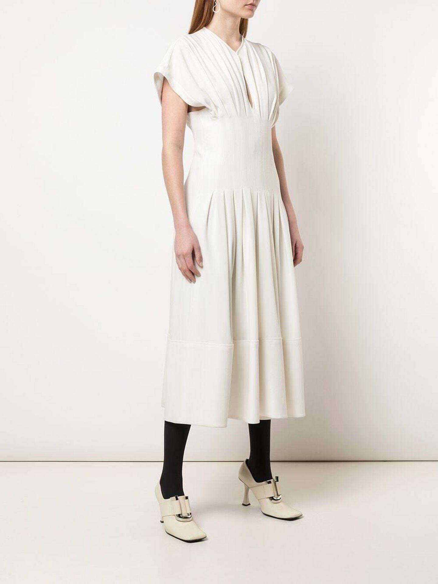 El vestido de Proenza Schouler. (Cortesía)