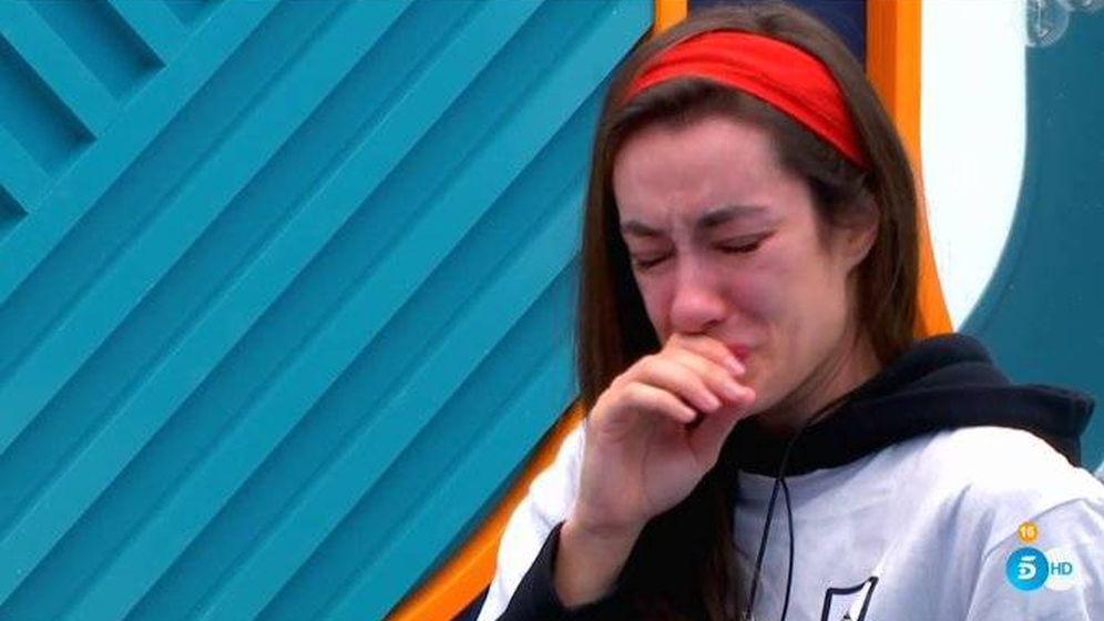 Foto: Adara llorando en 'GH VIP 7'. (Telecinco)