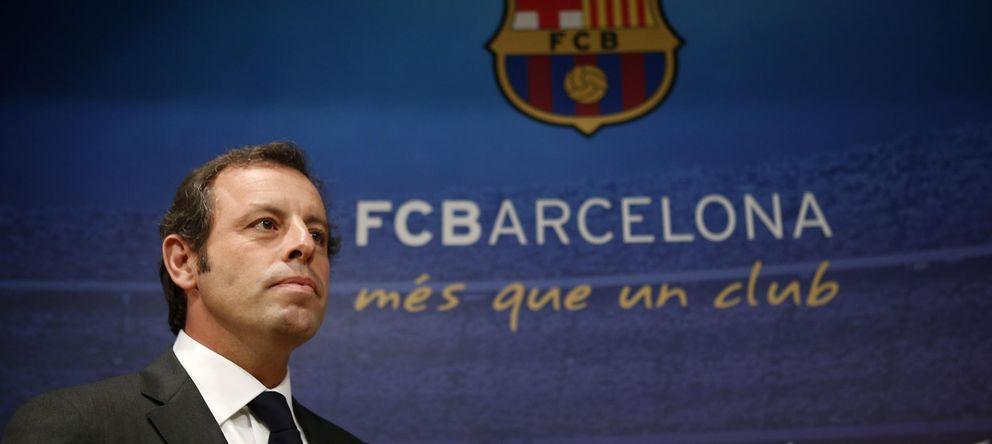 Foto: Sandro Rosell antes de anunciar su dimisión como presidente del Barcelona (Reuters).