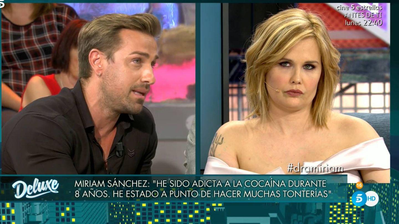 Rafa Mora y Miriam Sánchez, en 'Sábado Deluxe'. (Telecinco)