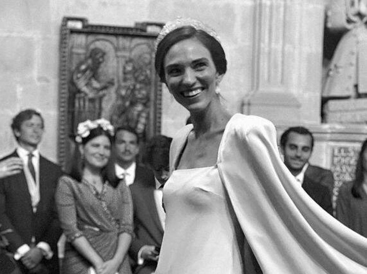Foto: Fátima, nuera de Cristina Yanes, el día de su boda. (@luciapombo)