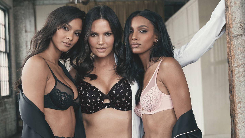 Lais Ribero, Candice Huffine y Jasmine Tookes. (Victoria's Secret)