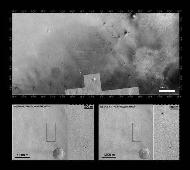 Foto: El punto de 'aterrizaje' de Schiaparelli (Imagen: ESA)