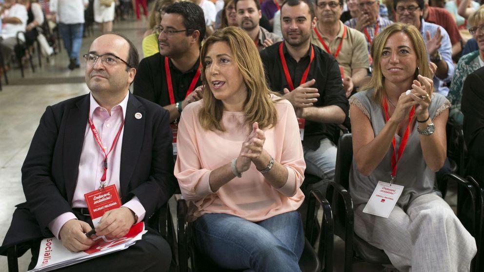 Díaz no coincide con Sánchez en campaña y reaparece en un acto de partido con Chacón