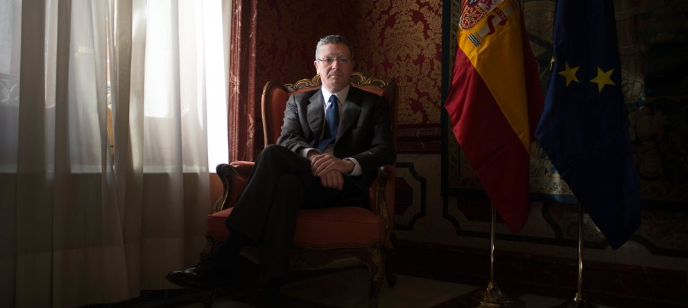 Foto: Alberto Ruiz-Gallardón, en el Ministerio de Justicia. (Pablo López Learte)