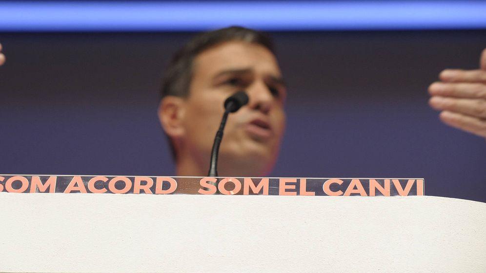 Foto: Pedro Sánchez, durante el mitin de proclamación de Miquel Iceta como candidato del PSC, el pasado 15 de julio en Barcelona. (B. P./PSOE)