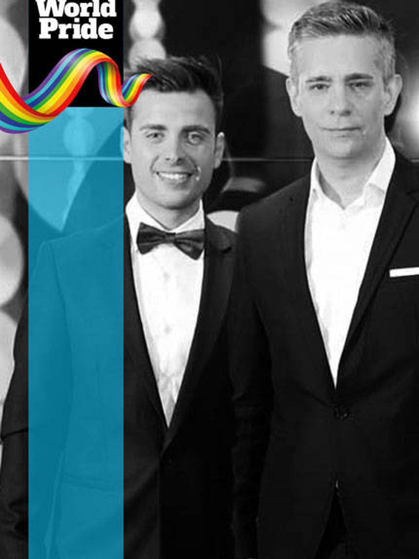Orgullo LGTBI 2017: Juan martín Boll y Nano García.