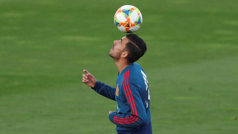 Dani Ceballos, durante la concentración de la Selección. (EFE)