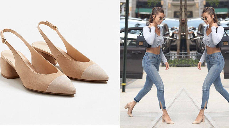 Calza como Bella Hadid con la versión 'low cost' de sus zapatos destalonados.