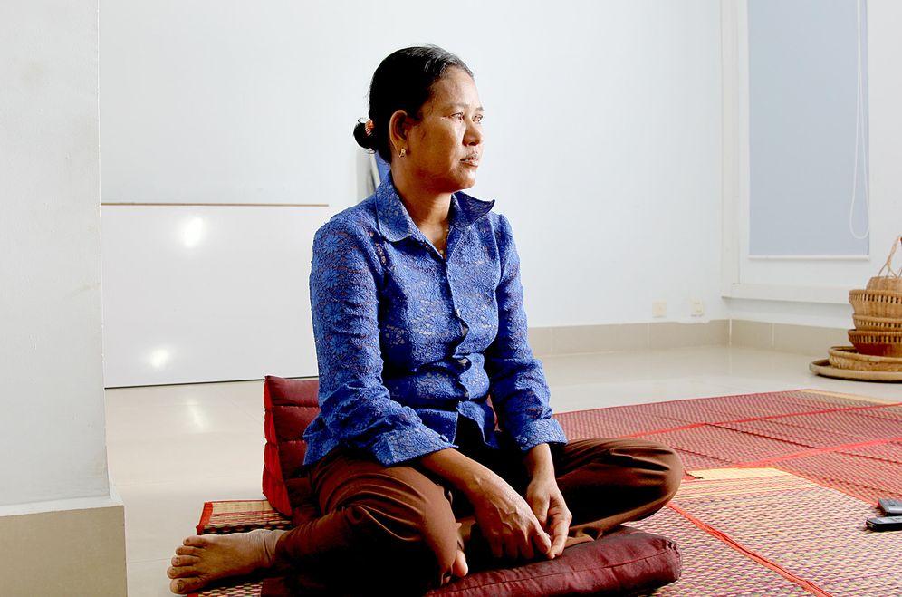 Foto: La camboyana Roeun Norn (L.V).