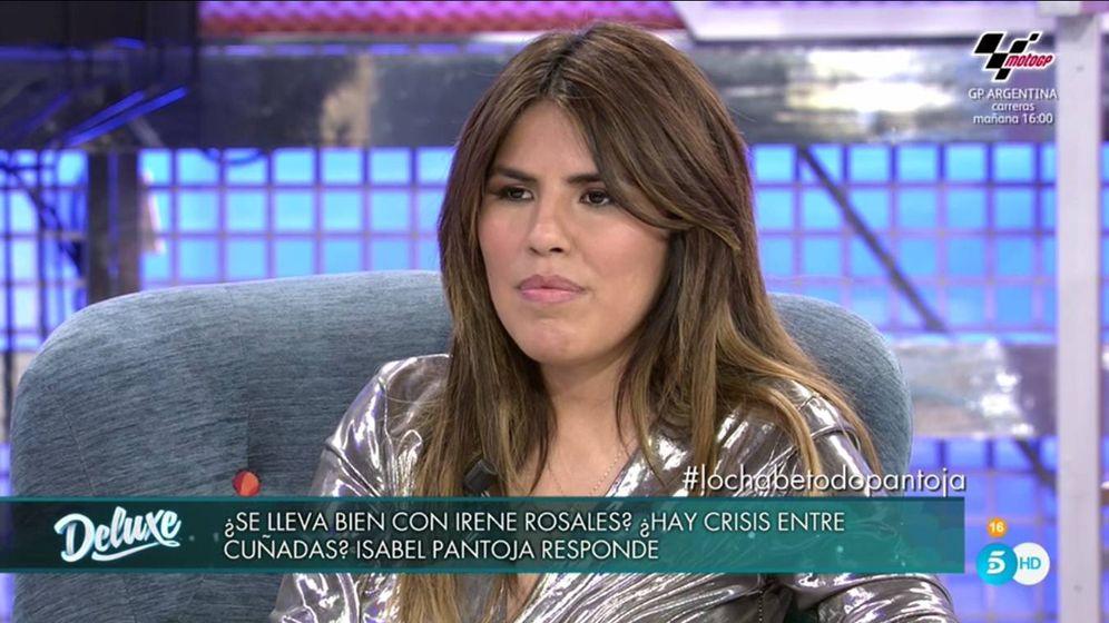 Foto: Chabelita, en 'Sábado Deluxe'. (Mediaset).