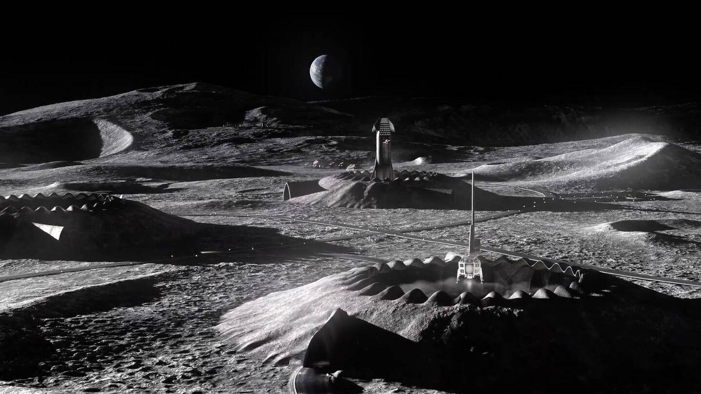 Foto: Zonas de despegue y aterrizaje de la base Lunar Lantern (Icon/Search /BIG)