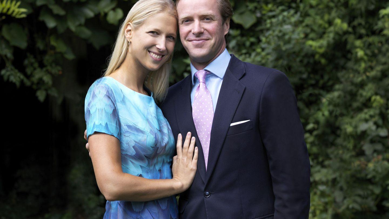 Lady Gabriella Windsor y su prometido. (Reuters)