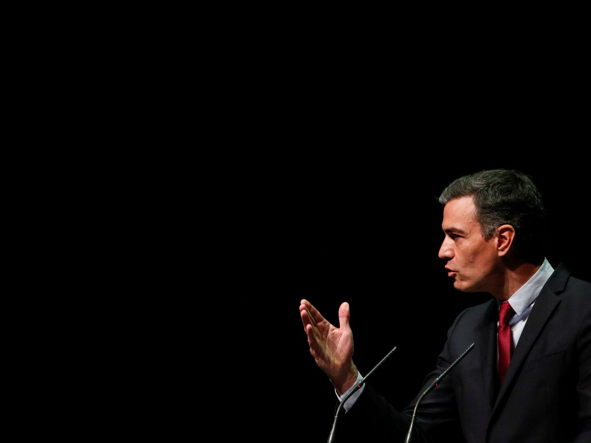 Foto: Sánchez, durante su discurso en el Liceu. (Reuters)