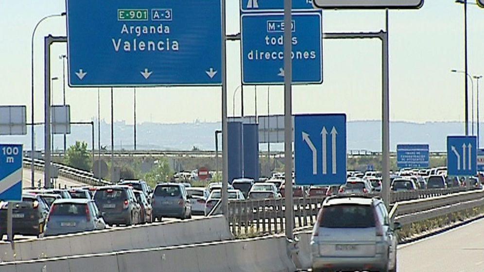 Foto: Imagen de archivo la salida de Madrid hacia Valencia. (EFE)