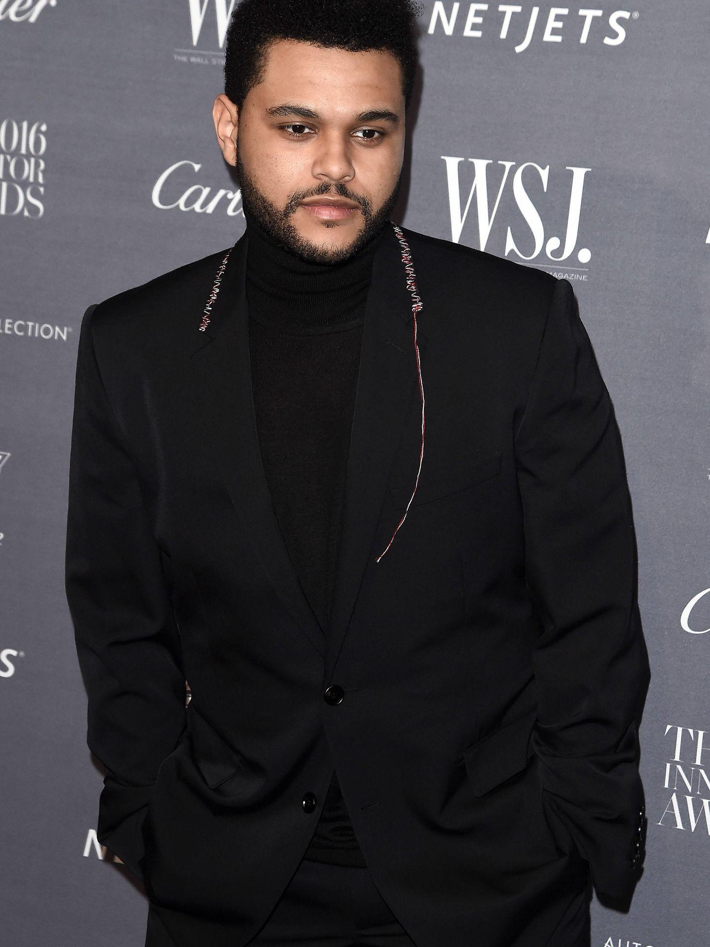 The Weeknd, con el cabello corto. (Getty)