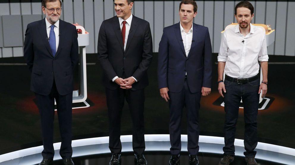 El debate entierra a Sánchez y afianza la polarización entre PP y Podemos