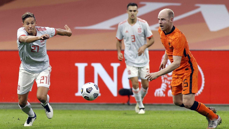 Marcos Llorente en un amistoso frente a Países Bajos. (Reuters)