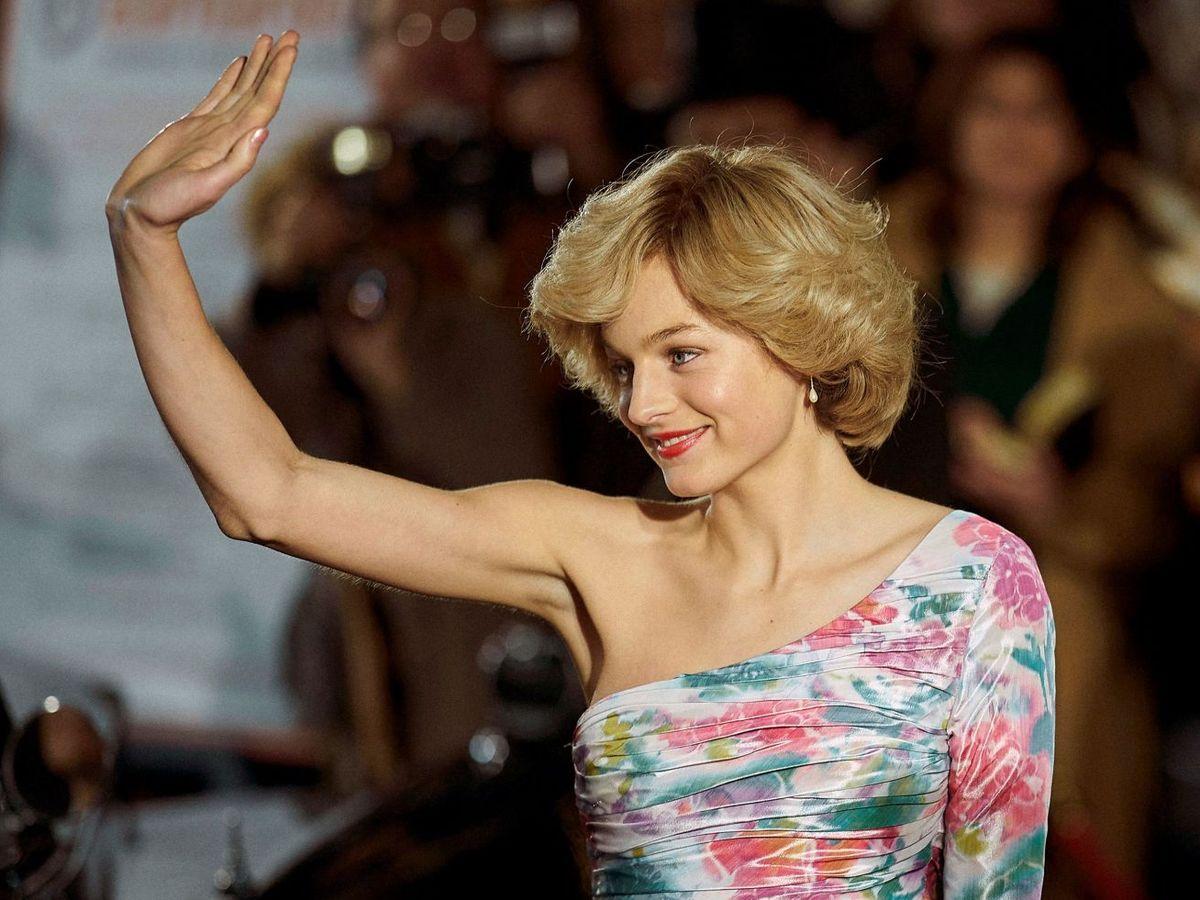 Foto: Emma Corrin, en el papel de la princesa Diana. (EFE)
