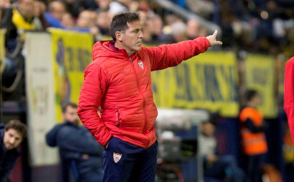 Foto: Berizzo, durante el Villarreal-Sevilla. (EFE)