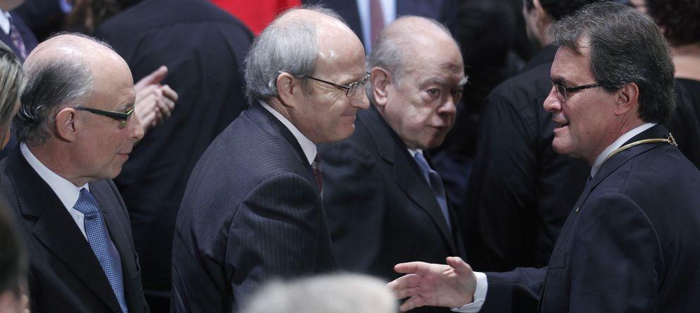 Foto: Cristobal Montoro, José Montilla, Jordi Pujol y Artur Mas (Reuters).