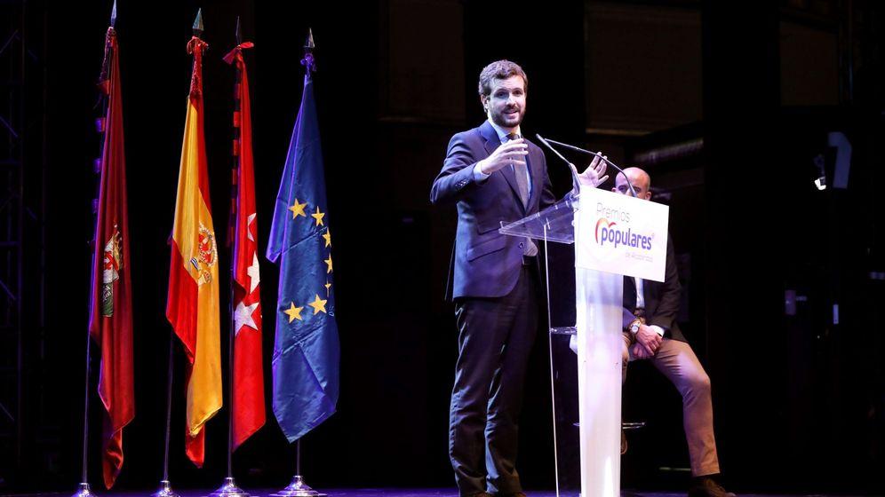 Foto: Pablo Casado en un acto del partido. (EFE)