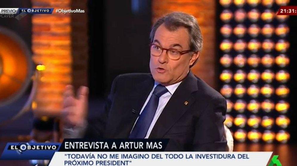 Foto: Artur Mas en su entrevista en La Sexta.
