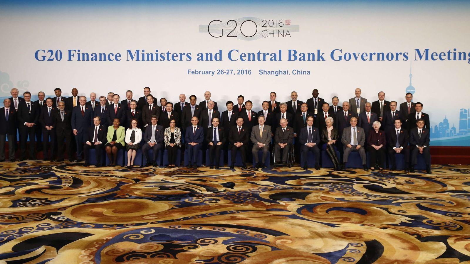 Foto: Foto de familia del G20 celebrado esta semana en Shanghai./EFE