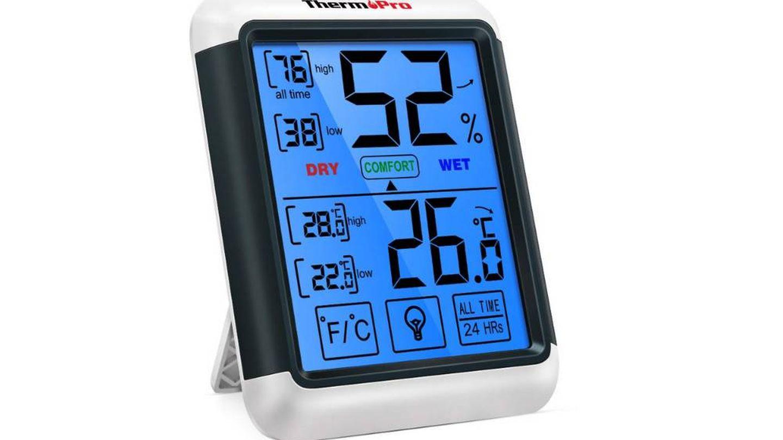Termómetro Thermopro para medir temperatura y humedad en casa