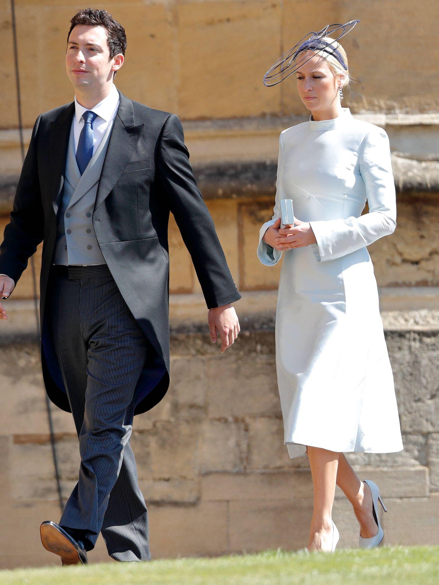 Misha y su prometido, en la boda de Meghan y Harry. (Getty)