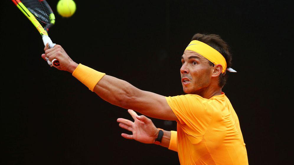 Foto: Rafa Nadal, este domingo en Roma. (Reuters)