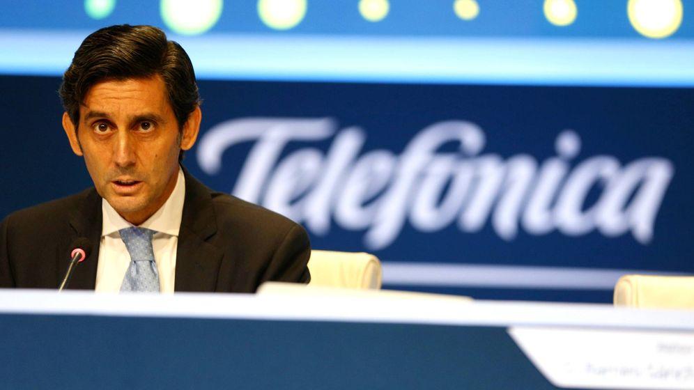 Foto: El nuevo presidente de Telefónica, José María Álvarez-Pallete, interviene en la Junta General de Accionistas del pasado 12 de mayo. (Foto: Reuters)