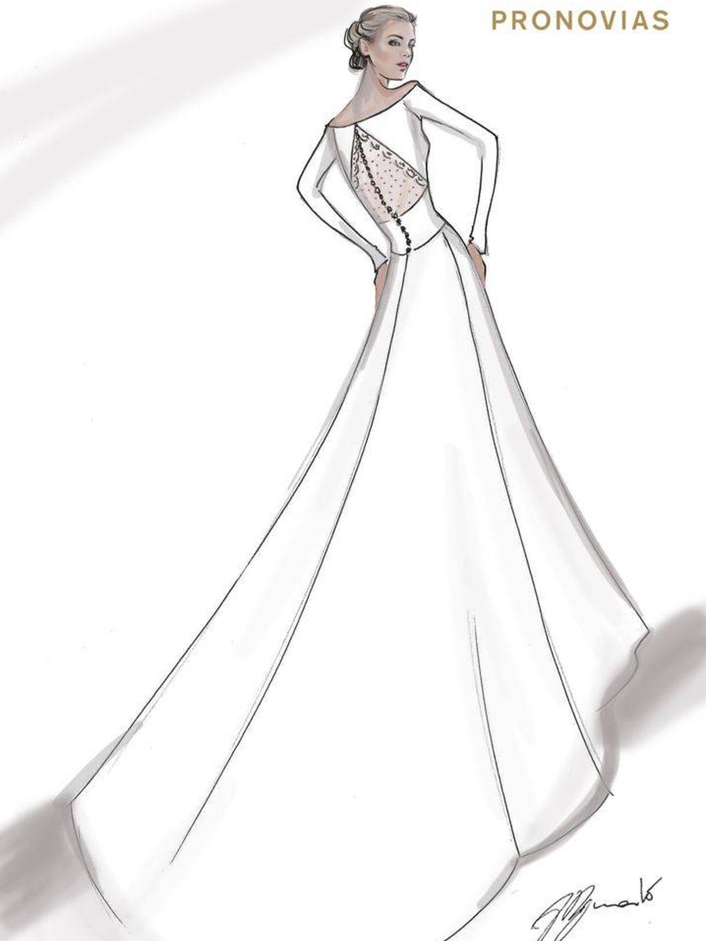 Espalda del vestido de Alejandra. (Pronovias)