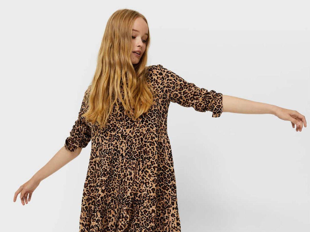 Foto: Este vestido camisero de Stradivarius disponible en cuatro estampados animal print confirma la tendencia. (Cortesía)