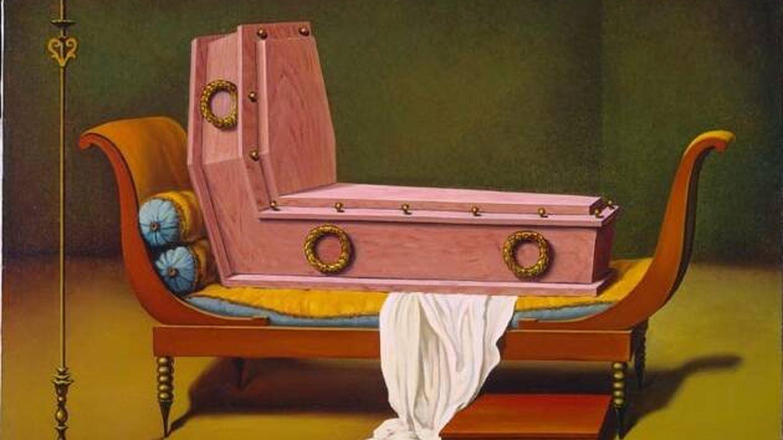 Madame Récamier de David, obra de René Magritte